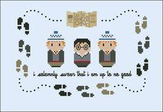 Harry Potter - Marauder's Map - Cross Stitch Patterns - CloudsFactory
