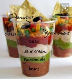 7 Layer Dip In A Cup Appetizer!
