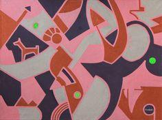 KORZH Taras, mazes, 2015, Acrylic on canvas, 100 x 75