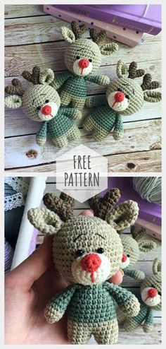 Mesmerizing Crochet an Amigurumi Rabbit Ideas. Lovely Crochet an Amigurumi Rabbit Ideas. Crochet Amigurumi Free Patterns, Christmas Crochet Patterns, Holiday Crochet, Christmas Knitting, Crochet Dolls, Knitting Patterns Free, Free Crochet, Christmas Scarf, Christmas Deer
