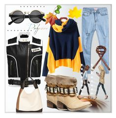 """autumn"" by ilona-828 ❤ liked on Polyvore featuring By Lassen, Steve Madden, Balmain, H&M, Marni, Fat Face, StreetStyle and romwe"
