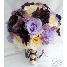 Ivory Eggplant Plum Lavender