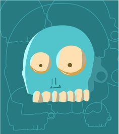 cabeza zombie #guillermoórtiz #illustration #zombie #vector