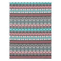 Modern Native American Tribal Aztec Pattern Tablecloth