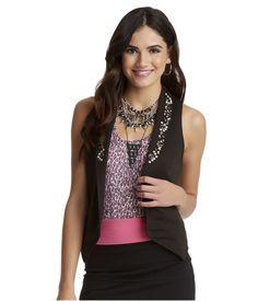 Aeropostale Womens Aria Studded Fashion Vest