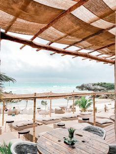 GIRLS GETAWAY IN TULUM, MEXICO: TRAVEL GUIDE — New Jersey Wedding Photographer with a Romantic, Joyful, and Airy style Bungalows, Banana Beach, Tulum Ruins, Tulum Beach, Outdoor Restaurant, Girls Getaway, Tulum Mexico, Balcony Design, Beach Bars