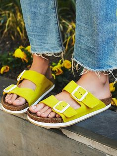 Accessorize with a fun color for summer casual chic; Free People Arizona Sport Birkenstock, $160.00