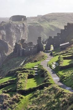 The ruins of Tintagel Castle, Cornwall, UK  - This is fabled to be the castle of King Arthur!