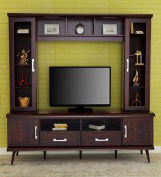 Forter TVUnit in Honey Brown Finish by RoyalOak - William Pennington Office Furniture, Living Room Furniture, Outdoor Furniture, Modern Tv Cabinet, Modern Tv Units, Honey Brown, Cabinet Design
