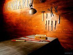 Menhard store by Glamshops, Sibiu – Romania Sibiu Romania, Retail Space, Store Design, Signage, Wall Lights, Sweet Home, Lighting, Graphics, Home Decor