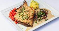 fried skate, wing the ardennes way with leek pureée #dolceworld #gastronomy #recipe