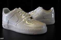 b4576ac0e0 Decked out in a glossy patent leather upper, Nike Sportswear has just  released the Air Force 1 Low in a full white colorway. The kicks are now  hitting shop