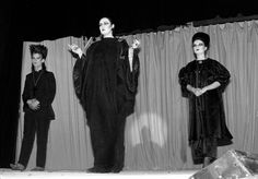 From left, Boy George, Fiona Dealey, and Princess Julia in Stephen Linard's 1980 Neon Gothic collection.