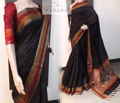 - Silk Saree With Kalamkari Pallu, Price Indian Sarees, Silk Sarees, Katan Saree, Buddha Meditation, Elegant Saree, Designer Sarees, Beautiful Saree, Saris, Saree Collection