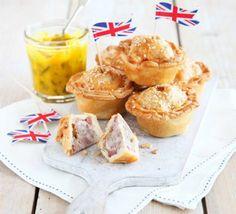 Mini pork pies with piccalilli