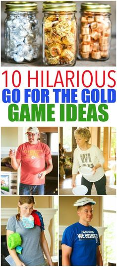 10 hilarious Olympics party games that are perfect for getting ready for the 2016 summer games in Rio! Fun for kids, for teens, and even for adults! Tons of simple minute to win it style activities that use things around the house. And for your winners? Chocolate Olympic medals! I can't wait to try the household triathlon.