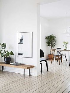 Interior Designing And Home Enhancement Tips – Home Dcorz Minimal Living, Living Room Modern, Home And Living, Living Spaces, Black And White Furniture, Wall Decor Design, Minimalist Home Decor, Interior Decorating, Interior Design
