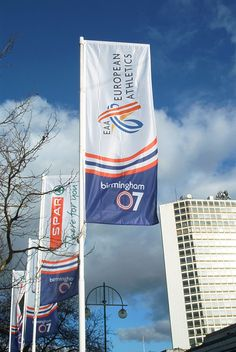 Birmingham city banners produced by House of Flags