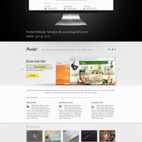 Product website template PSD - Templates. No waiting time required! Fast download.