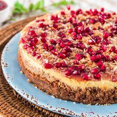 Coconut-Pomegranate Cheesecake by Ingrid Hoffman | Nestlé Recipes | ElMejorNido.com