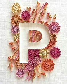 Resultado de imagen para quilling patterns for beginners Quilling Letters, Paper Quilling Patterns, Quilling Paper Craft, Paper Crafts, Quilling Tutorial, Quiling Paper Art, Quilled Creations, Paper Artwork, Paper Flowers