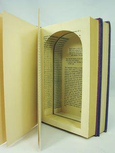 Secret Book Storage... It's no secret room hidden behind a door in a bookshelf, but still adds a little mystery...