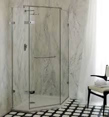 Venice - Angled glass shower enclosures - Majestic Shower Company Ltd Glass Shower Enclosures, Frameless Shower, Shower Screen, Safety Glass, Exposed Brick, Shower Doors, Venice, Display, Flooring
