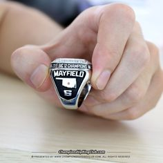 2015 Oklahoma Sooners Big 12 Championship Ring. Best gift from www.championshipringclub.com for  Sooners fans. You can custom your  championship ring now.