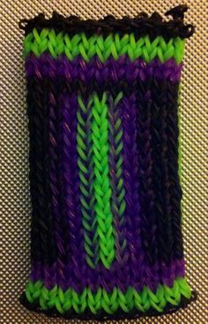 Rainbow loom cell phone case I made
