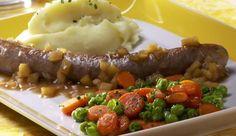 Starke Bratwurst für starke Burschen. Das originelle Rezept für Bratwurst Wilhelm Tell gibt es auf MAGGI.de.