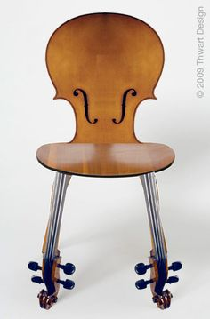 Cello Chair by Thwart Design - maybe then my mother will stop asking when I'm going to play again?