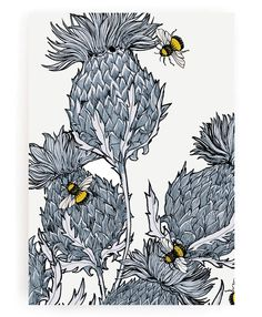 From the Jagged Beasties Collection from GillianKyle a modern re-think of the classic Scottish icon, the thistle. This print will add some contemporary Scottish vibes to your home and works beautifully as a set of 3 combined with the other colour ways.