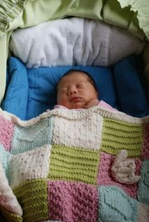 YARRRRN: Pattern - Textured Blocks Baby Blanket