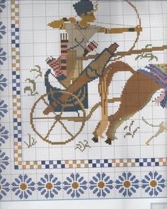 ru / Photo # 2 - Labores de Ana 57 analogue of Susanna - Mosca Cross Stitch Designs, Cross Stitch Patterns, Egyptian Cross, North Africa, Cross Stitch Embroidery, Needlework, Diy And Crafts, Kids Rugs, Quilts
