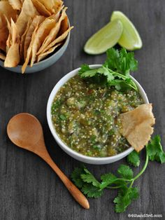 Roasted Tomatillo Salsa Verde | 31 Amazing Things To Cook In August