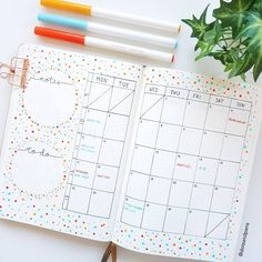 Find 18 Bullet Journal Monthly Layouts for your next month's Bullet Journal Layout. Read the post and get ideas of what to include in a Monthly Spread as well as Layout Ideas and Inspiration... #bulletjournal #layout #bujo #monthlylayout
