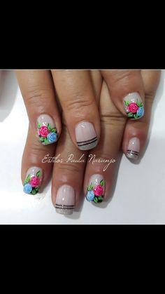 Manicure Y Pedicure, Hair Beauty, Roses, Nail Art, Nails, Art Nails, Fairy, Adhesive, Enamel