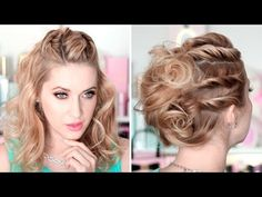 Running late twisted hairstyles for a party/everyday, cute and easy ★ Medium/long hair tutorial - YouTube