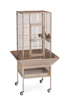"""Parkway Cage in Coco Brown  18"""" L x 18"""" W x 48 1/2"""" H"""