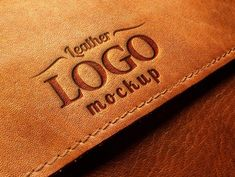 Free Embossed Leather Logo MockUp PSD (22.2 MB) | free-designs.net | #free #mockup #photoshop