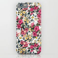 Check out society6curated.com for more! @society6 #floral #flowers #pattern #phone #case #phonecase #accessory #accessories #fashion #style #buy #shop #sale #cool #sweet #rad #awesome #fun #beautiful #beauty #pretty #botanical #iphone #products #product  #botanical #red #pink #white #yellow #green