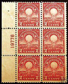 #654 2c Carmine Rose 1929 VF Plate #19776 Block of 6 *MNH*  - Giant Rare Stamp Sale - http://stores.ebay.com/Little-Art-Treasures