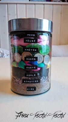 Geldgeschenk im Glas / Money gift in a jar / Upcycling