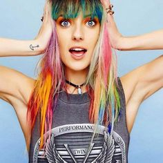 Models   Rainbow Colored Hair   Chloe Nørgaard