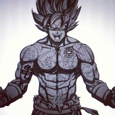 #Goku from #DragonballZ Work in progress :) #tattoo #workinprogress #drawing #sketch #mangaart #anime #fanart #artist #illustration #wacom #cintiq #art #drawing #photoshop #artwork #character #digitalart #graphicstablet #japanese #comicbook #comic #illustrator #dragonball #dbz #benkrefta #tattooed #inked Thanks for looking :)