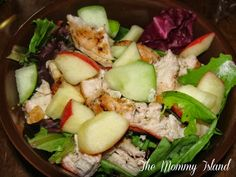 Crisp Apple and Grilled Chicken Salad   The Mommy Island: Grilling with Pompeian Extra Virgin Olive Oil {Smiley360 Review}