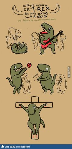 The sad story of large arms T-Rex. Dang :'(