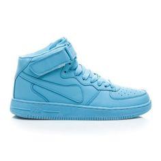 Vysoké dámské sportovní boty se suchým zipem modré - B732L.BL