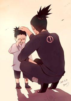 Shikamaru and Shikadai Nara Naruto Kakashi, Naruto Shippuden Sasuke, Anime Naruto, Naruto Fan Art, Naruto Cute, Gaara, Manga Anime, Shikamaru E Temari, Shikadai