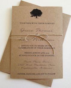 Rustikale Baum Hochzeitseinladungen von LemonInvitations auf Etsy